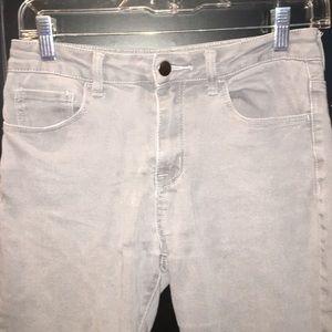 Gray denim jeans